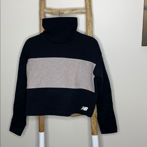 New balance turtle neck crop top sweater